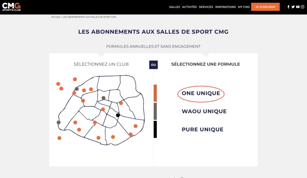 CMG Sports clubのオンライン登録手順2